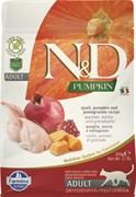 Farmina - Беззерновой корм для взрослых кошек (перепел и тыква) N&D Pumpkin quail adult