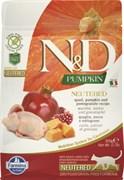 Farmina - Беззерновой корм для стерилизованных кошек (перепел и тыква) N&D Pumpkin neutered quail