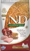 Farmina - Низкозерновой корм для взрослых собак мелких и карликовых пород (курица с гранатом) N&D Low Grain Chicken&Pomegrante Adult Mini