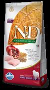 Farmina - Низкозерновой корм для взрослых собак крупных и гигантских пород (курица с гранатом) N&D Low Grain Chicken&Pomegrante Adult GIANT Maxi
