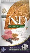 Farmina - Низкозерновой корм для взрослых собак средних и крупных пород (ягненок с черникой) N&D Low Grain Lamb&Blueberry Adult MEDIUM&MAXI