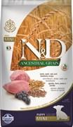 Farmina - Низкозерновой корм для щенков мелких и карликовых пород (ягненок с черникой) N&D Low Grain Lamb&Blueberry Puppy Mini
