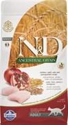 Farmina - Низкозерновой корм для взрослых кошек (курица с гранатом) N&D Low Grain Chicken&Pomegrante  Adult Cat